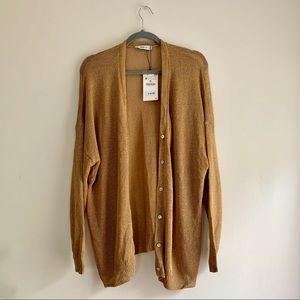 ZARA Knit • NWT Linen Blend Cardigan Sweater